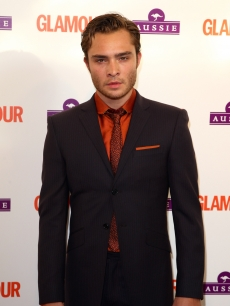 Ed Westwick arrives at the Glamour Women of the Year Awards 2009 at Berkeley Square Gardens on June 2, 2009 in London, England
