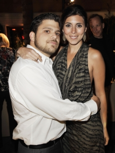 Jerry Ferrara and Jamie-Lynn Sigler pose at the afterparty for the premiere of 'The Hangover'