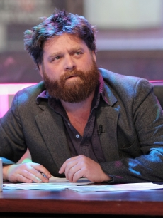 Zach Galifianakis appears onstage during the 'Jackassworld: 24 Hour Takeover' on February 24, 2008 in New York City