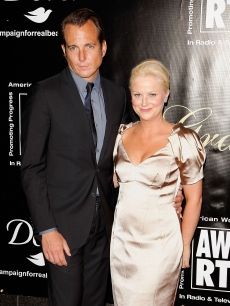 Will Arnett and Amy Poehler attend the AWRT Gracie Awards Gala  on June 3, 2009 in New York City