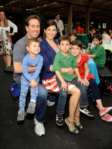 Jerry and Jessica Seinfeld with children attend the Baby Buggy Bedtime Bash on June 2, 2009 in New York City