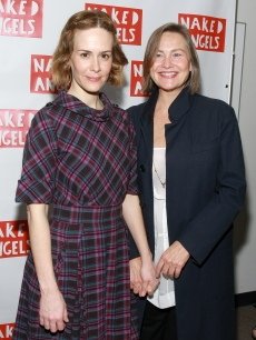 Sarah Paulson and her girlfriend, Cherry Jones, attend the opening night of 'Next Fall' Off-Broadway at the Peter Jay Sharp Theater on June 3, 2009