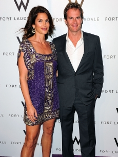 Cindy Crawford and husband Randy Gerber arrives at the W Hotel Grand Opening on June 4, 2009 in Fort Lauderdale