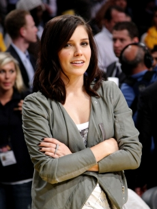 Sophia Bush sits courtside during game one of the NBA Finals on June 4, 2009 in LA