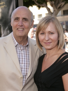 Jeffrey Tambor and wife Kasia Ostlun attend the red carpet at the 'HellBoy: II The Golden Army' premiere at the Mann Village Westwood Theater on June 28, 2008 in Westwood