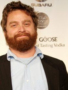 'The Hangover' star Zach Galifianakis at a Los Angeles Magazine party in Hollywood (May 2005)