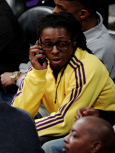 Lil Wayne attends Game One of the NBA Finals between the Los Angeles Lakers and the Orlando Magic at Staples Center on June 4, 2009 in Los Angeles, California