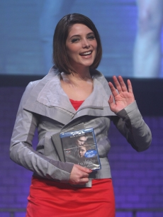 Ashley Greene has DVDs a-plenty for the 'Twilight' fan party at E-Werk on June 6, 2009 in Berlin, Germany