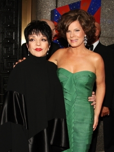 Liza Minnelli and Marcia Gay Harden attends the 63rd Annual Tony Awards at Radio City Music Hall on June 7, 2009 in New York City