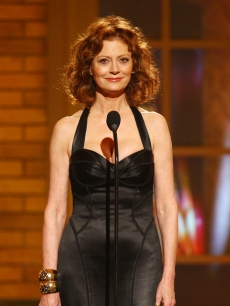 Susan Sarandon speaks onstage during the 63rd Annual Tony Awards at Radio City Music Hall on June 7, 2009 in New York City