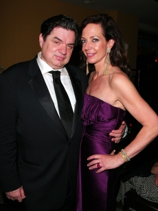 Oliver Platt and Allison Janney strike a pose at the 63rd Annual Tony Awards after party on June 7, 2009 in New York City