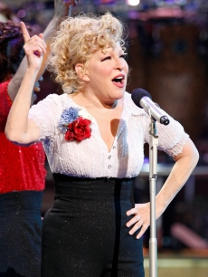 Bette Midler takes the stage during the 100th performance of her show, 'The Showgirl Must Go On' on June 7, 2009 in Las Vegas