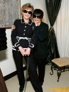 Jane Fonda and Liza Minnelli are all smiles at the 63rd Annual Tony Awards Official Lipton Gift Lounge on June 7, 2009 in New York City