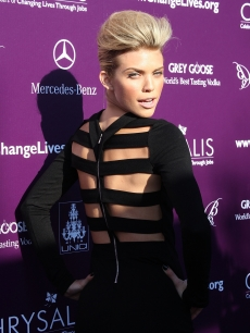 AnnaLynne McCord hits the red carpet at the eighth annual Chrysalis Butterfly Ball on June 6, 2009 in Los Angeles