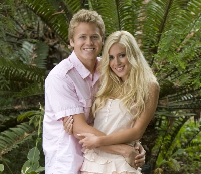 "Spencer Prat and Heidi Montag in a promo shot for NBC's ""I'm A Celebrity…Get Me Out Of Here'"