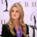 Carrie Prejean during a Miss USA press conference on May 12, 2009 in New York