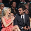 Julianne Hough and boyfriend Chuck Wicks share a laugh at the CMT Awards, Nashville, June 16, 2009