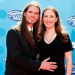 Bo Bice and his wife, Caroline, arrive at the American Idol Season 7 Grand Finale held at the Nokia Theatre on May 21, 2008 in Los Angeles