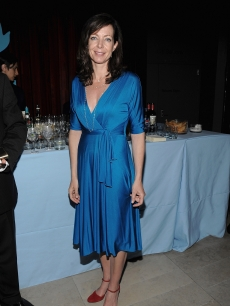 Allison Janney is a vision in blue at the after party celebrating Paul Newman&#8217;s Hole in the Wall Camps on June 8, 2009 in New York City
