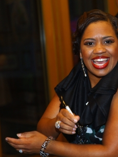Chandra Wilson greets fans after debuting in 'Chicago' on Broadway at the Ambassador Theatre on June 8, 2009 in New York City