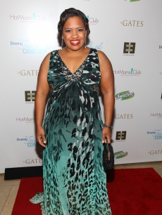 Chandra Wilson struts her stuff at a party celebrating her debut in 'Chicago' on Broadway on June 8, 2009 in New York City