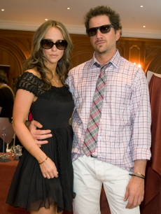 Jennifer Love Hewitt and Jamie Kennedy get serious in shades at the DPA 2009 Gift Lounge at Hotel de Paris on June 9, 2009 in Monte-Carlo