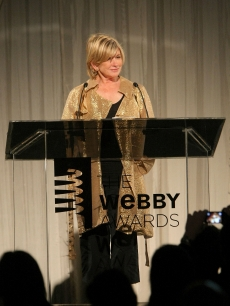 Martha Stewart presents the Breakout Webby of the Year during the 13th Annual Webby Awards on June 8, 2009 in New York City