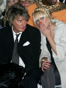 Rock n' Roll superstar Rod Stewart and daughter Kimberly Stewart attend the Marc Jacobs Fall 2007 fashion show on February 5, 2007 in New York City