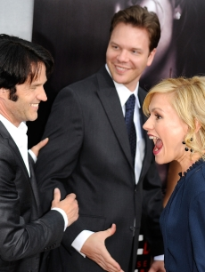 On an off-screen couple, Stephen Moyer and Anna Paquin at the Premiere Of HBO's 'True Blood' 2nd Season on June 9, 2009 in Hollywood