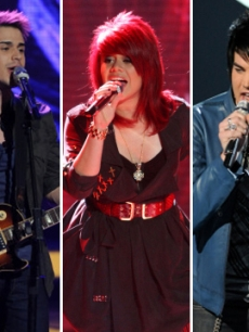 Kris Allen, Allison Iraheta and Adam Lambert on 'American Idol'