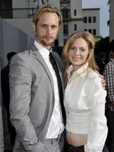 Alexander Skarsgard and Kristin Bauer hit the red carpet at the premiere of the 2nd season of HBO's 'True Blood' on June 9, 2009 in Los Angeles