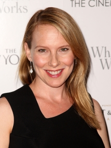 Amy Ryan flashes a smile at a screening of &#8216;Whatever Works&#8217; hosted by the Cinema Society and The New Yorker on June 10, 2009 in New York City
