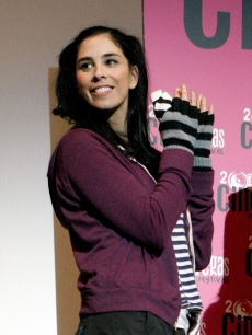 Funny woman, Sarah Silverman speaks during the 'Saint John of Las Vegas' Q & A on June 10, 2009 in Las Vegas