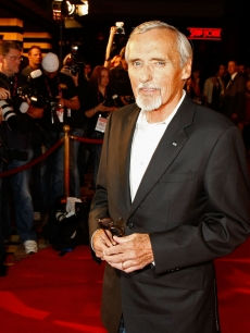 Dennis Hopper arrives at the 'Saint John of Las Vegas' film premiere held at Planet Hollywood Resort & Casino on June 10, 2009 in Las Vegas