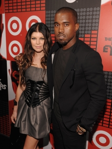 Fergie and Kanye West at the Target and The Black Eyed Peas album party, June 10, 2009