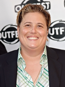 Chastity Bono arrives at the Outfest 2005 Awards Night on July 17, 2005 at the John Anson Ford Amphitheatre in Los Angeles, California