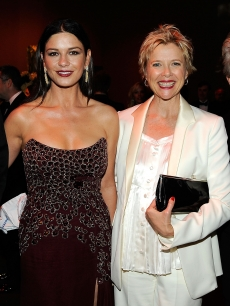 Catherine Zeta-Jones and Annette Bening attend the AFI Life Achievement Award: A Tribute to Michael Douglas after party