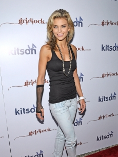Annalynne McCord makes a fashionable entrance at the launch party for Gridlock Denim at Kitson on Roberston on June 11, 2009 in Beverly Hills