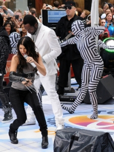 The Black Eyed Peas perform on the 'Today' show on June 12, 2009