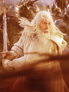 Ian McKellen as Gandalf in 'The Return of the King'