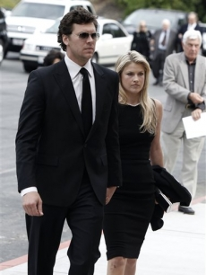 Ali Larter arrives at the funeral of David Carradine on June 13, 2009, in Los Angeles