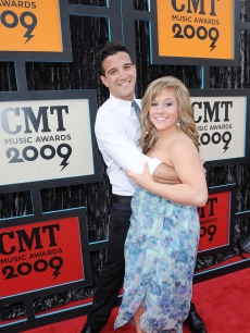 Mark Ballas and  Shawn Johnson attend the 2009 CMT Music Awards at the Sommet Center on June 16, 2009 in Nashville, Tennessee