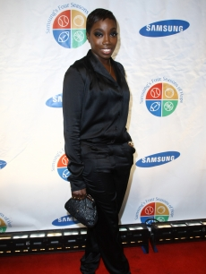 Estelle keeps it basic in black at Samsung's 8th Annual Four Seasons Of Hope Gala on June 16, 2009 in New York City