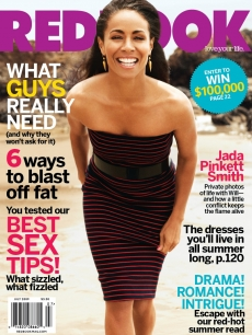 Jada Pinkett Smith on the cover of the July 2009 issue of Redbook
