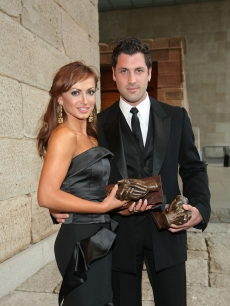 Karina Smirnoff and Maksim Chmerkovskiy strike a pose the 2009 Russian Heritage Festival at The Metropolitan Museum of Art June 17, 2009 in New York City