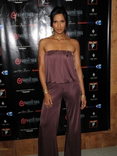 Padma Lakshmi looks pretty in purple at the 6th annual Wayuu Taya Foundation gala at Stephen Weiss Studio on June 17, 2009 in New York City