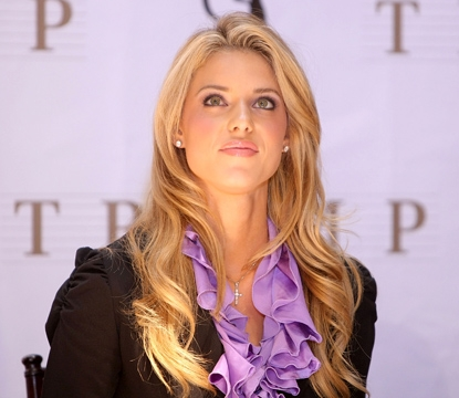 Carrie Prejean attends a press conference at Trump Tower on May 12, 2009 in New York