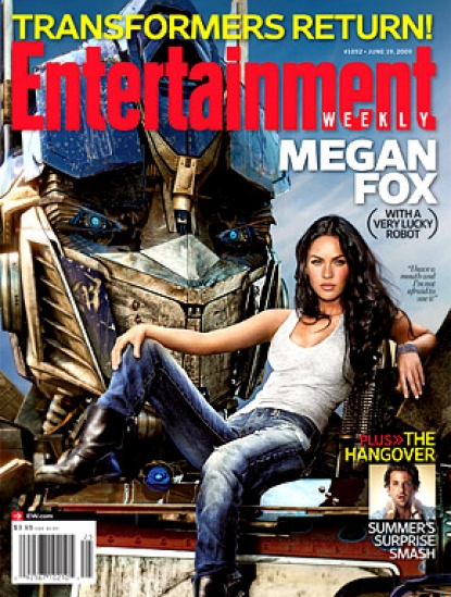 Megan Fox on the cover of the June 14 issue of Entertainment Weekly