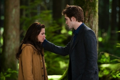 &#8216;New Moon&#8217; promotional still from a scene with Edward and Bella