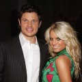 Jessica Simpson and then-husband Nick Lachey attends the 'Gucci Spring 2006 Fashion Show Benefitting The Childrens Action Network' at Michael Chow's residence November 17, 2005